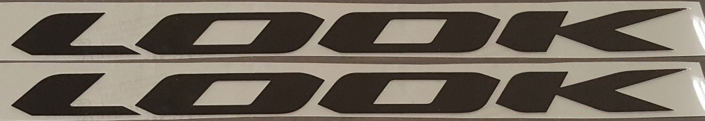 Look Bicycle Down Tube Decals--1 Pair--Choose Color & Size