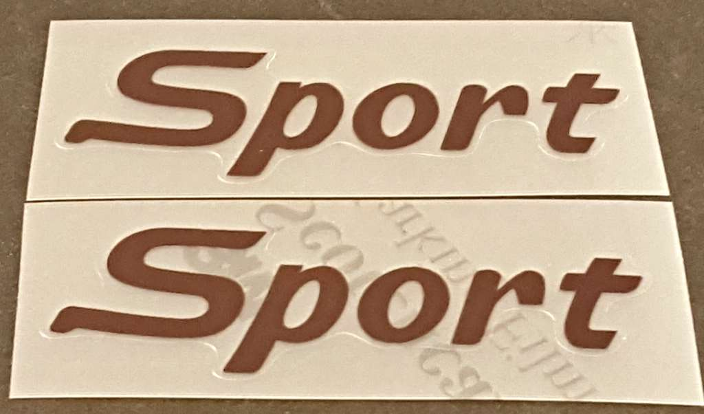 Azuki Sport Bicycle Down Tube Decals - 1 Pair - Choose Color
