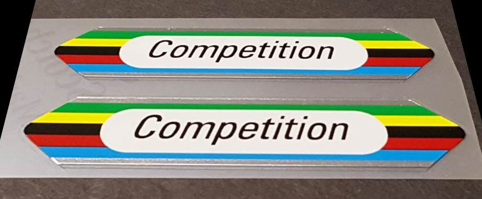 Zeus Bicycle Chrome Competition Top Tube Decals - 1 Pair