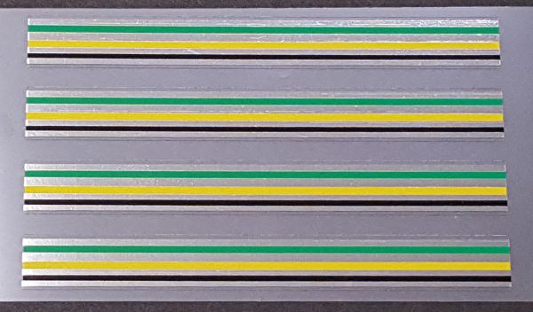 Zeus Bicycle Chrome Stripes Decals - 4 Yellow/Green