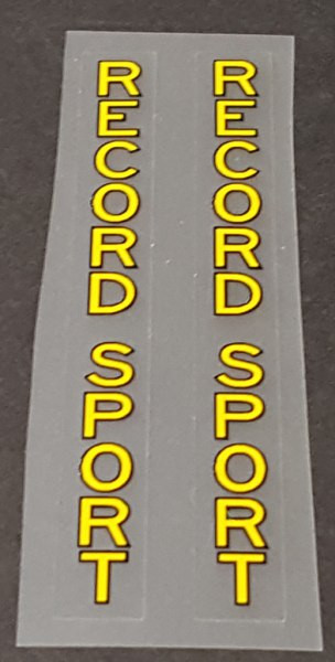 Record Bicycle Stay Decals - 1 Pair - Choose Colors