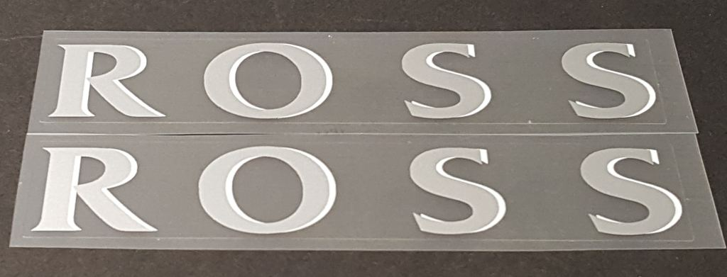 Ross Bicycle Down Tube Decals - 1 Pair - Choose Colors