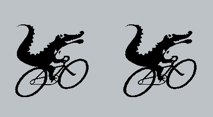 Moots Wheelie Gator Fork Decals - Right facing - 1 Pair - Choose Color