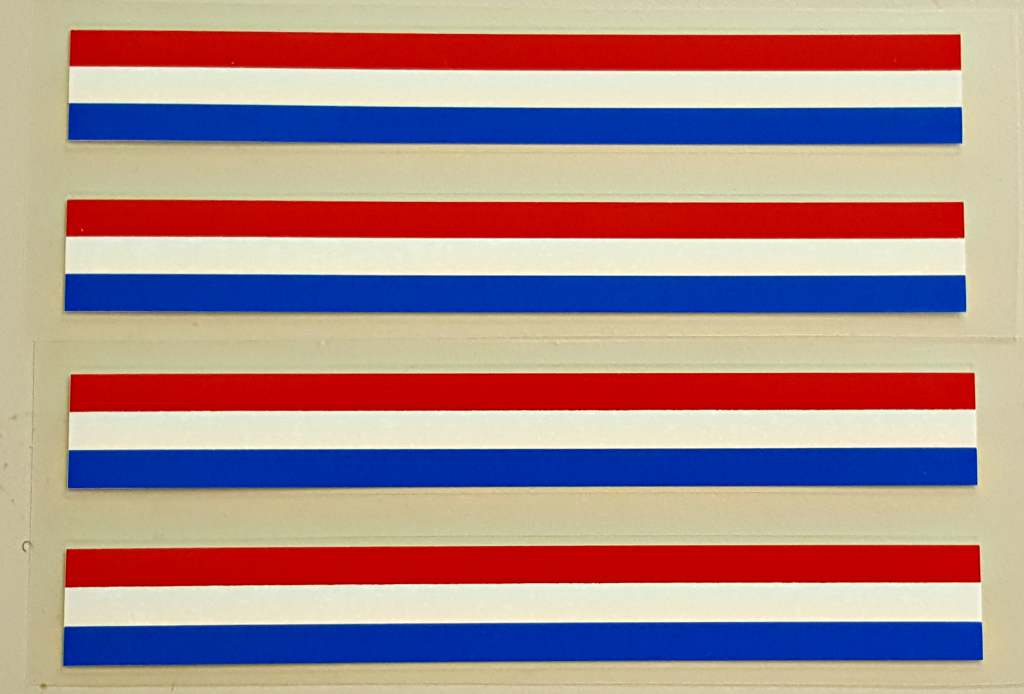 Stripes - Red/White/Blue - Set of 4