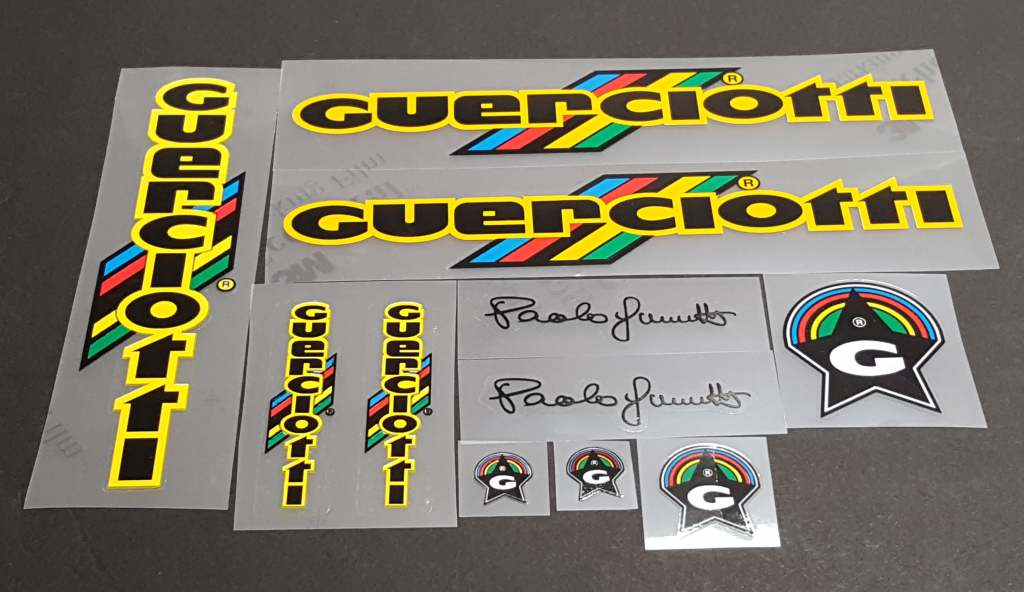 Guerciotti 1984 Bicycle Decal Set - Black/Yellow