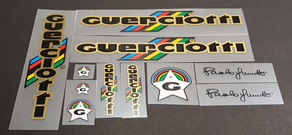 Guerciotti 1984 Bicycle Decal Set - Black/Gold