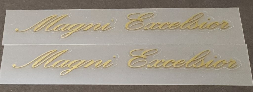 Magni Bicycle Excelsior Top Tube Decals - 1 Pair - Choose Color