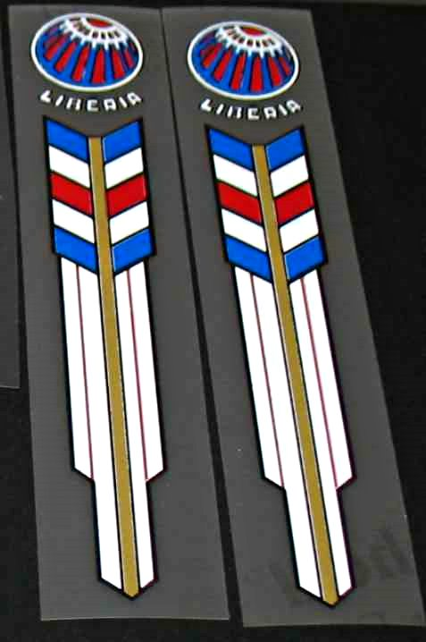 Liberia Bicycle Fork Decals - 1 Pair