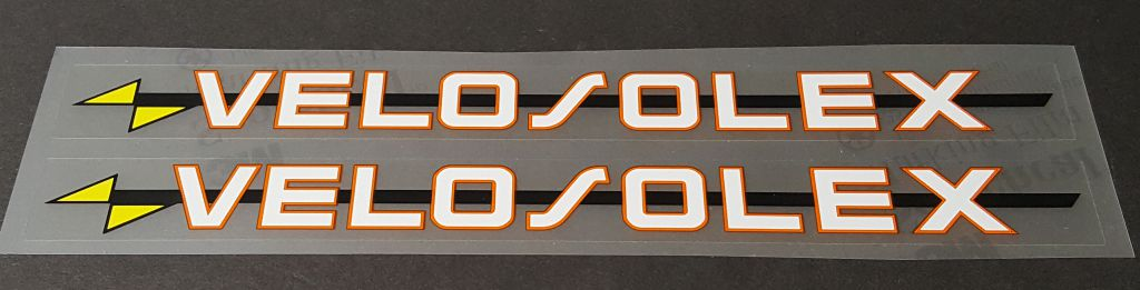 Velosolex Bicycle Down Tube Decals - 1 Pair
