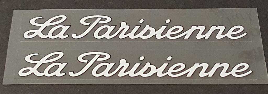 Velosolex La Parisienne Top Tube Decals - 1 Pair - Choose Color