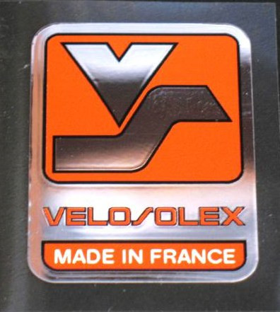 Velosolex Chrome Head Badge Decal