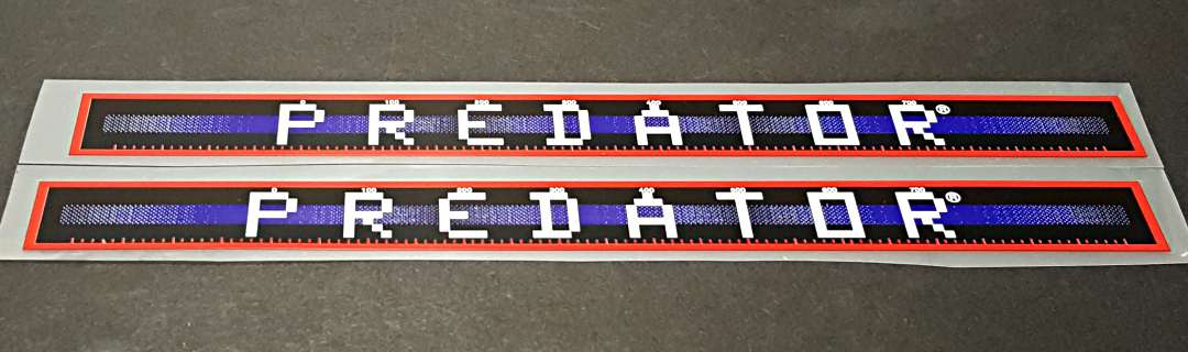 Schwinn Predator Down Tube Decals  - 1 Pair - Royal/Intense Red  - HALF PRICE