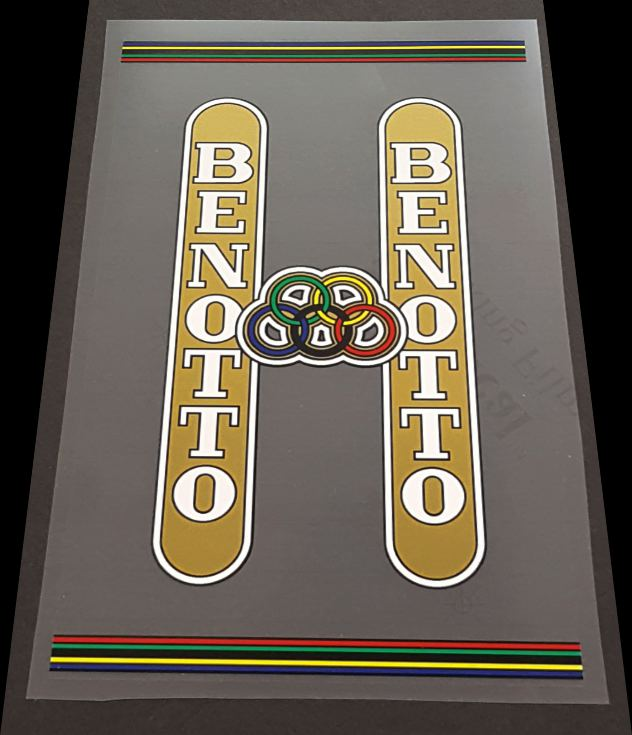 Benotto Seat Tube  Wrap Decal - Clear Background