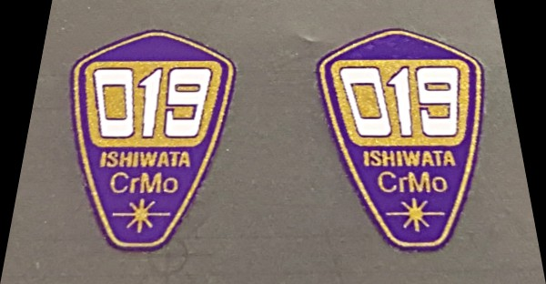 Ishiwata 019 Fork Decals - 1 Pair - Purple