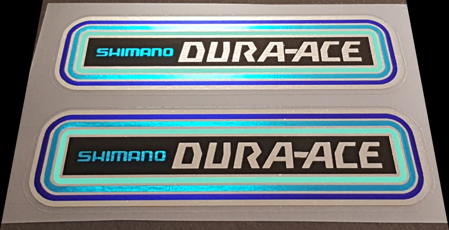 Shimano / Dura-Ace Component Decals - 1 Pair - Chrome