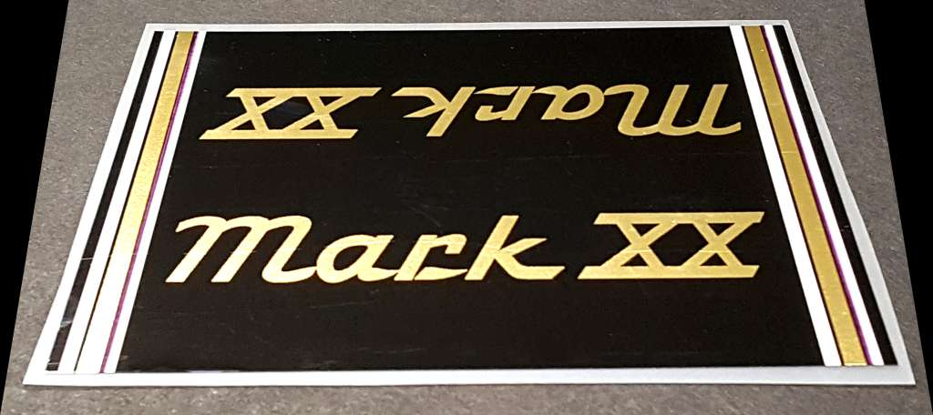Volkscycle Mark XX Bicycle Top Tube Wrap Decal - Black/Mirror Gold