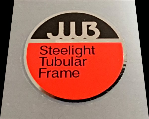 Volkscycle JWB Steelight Tubing Decal on Chrome