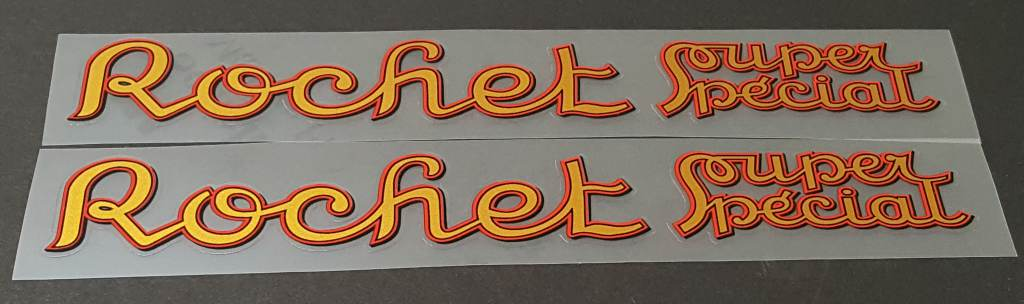Rochet Bicycle Souper Special Down Tube Decals - Pair