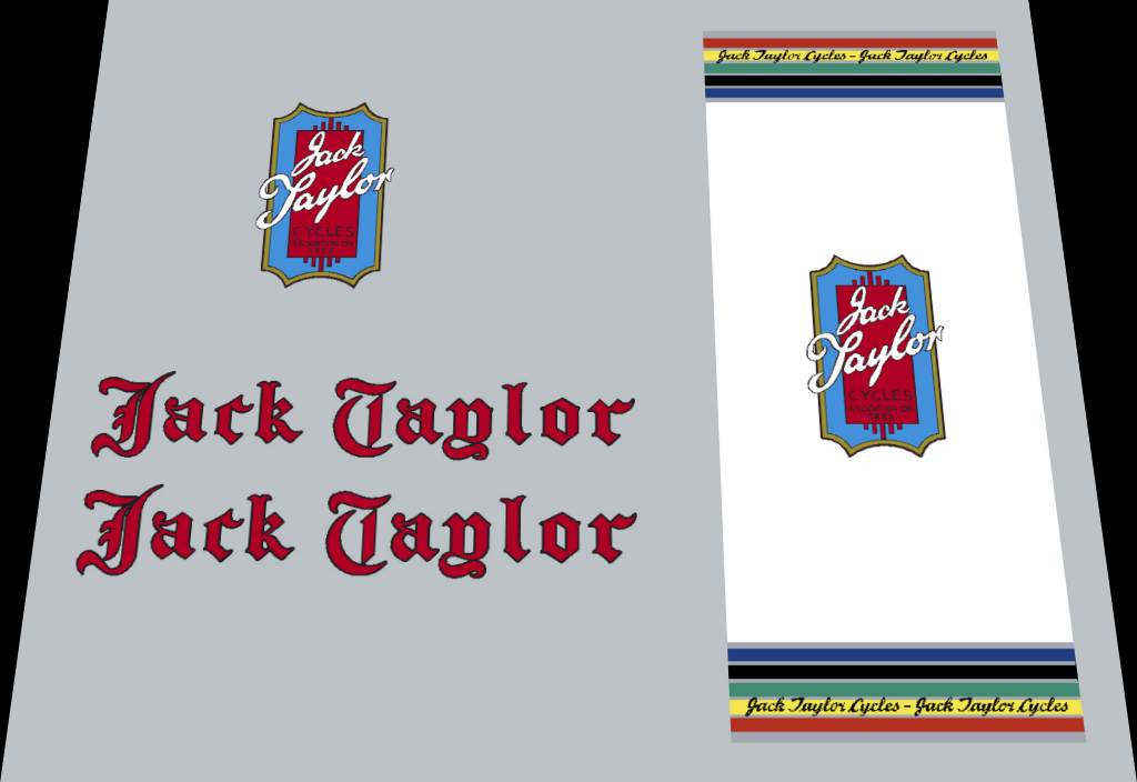 Jack Taylor Bicycle Decal Set #1