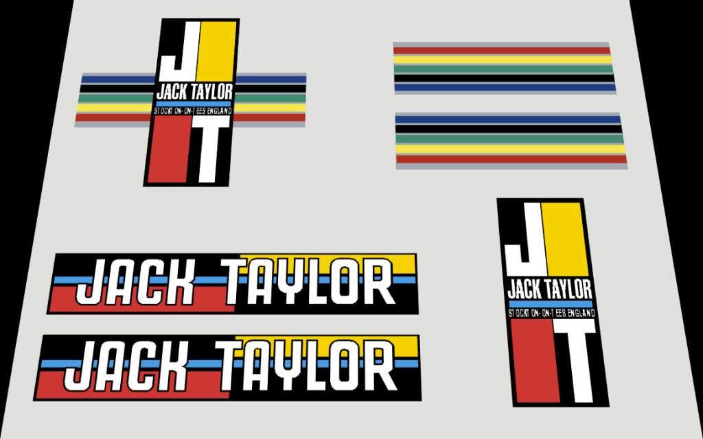 Jack Taylor Bicycle Decal Set #3