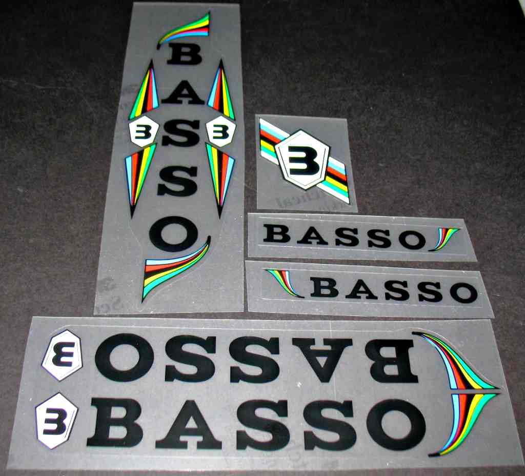 Basso Classic Bicycle Decal Set - Black