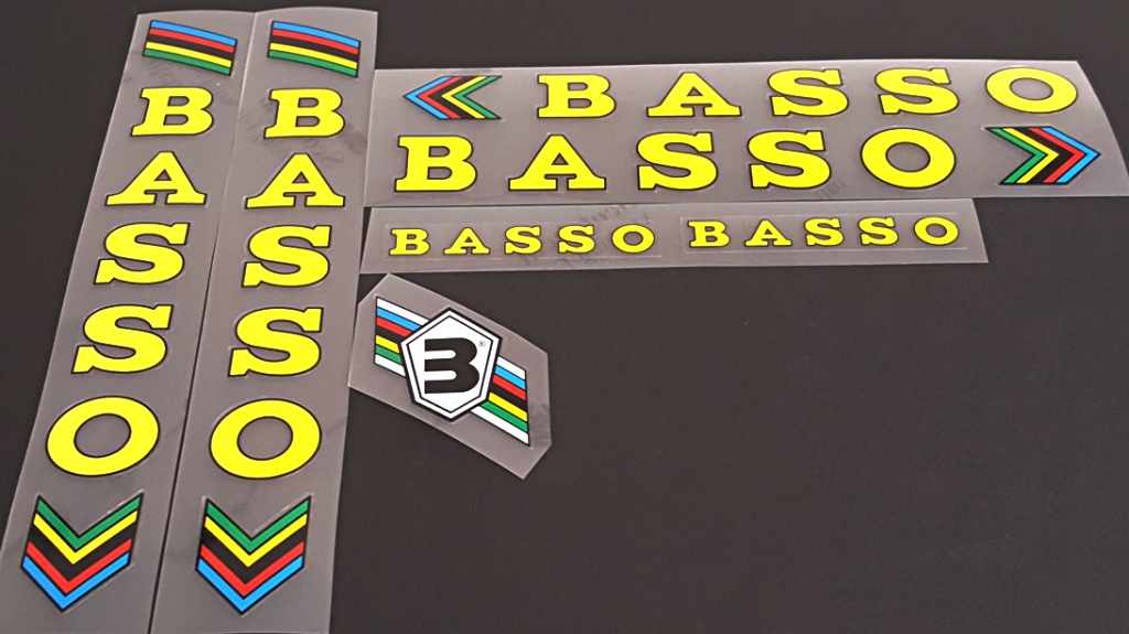 Basso Bicycle Decal Set - Yellow