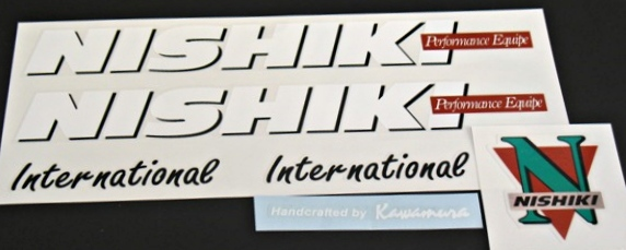 Nishiki International Performance Equipe Bicycle Decal Set