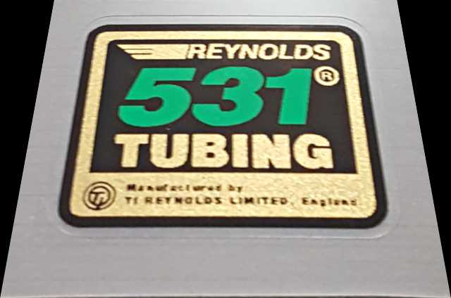 Reynolds Small 531 Tubing Decal