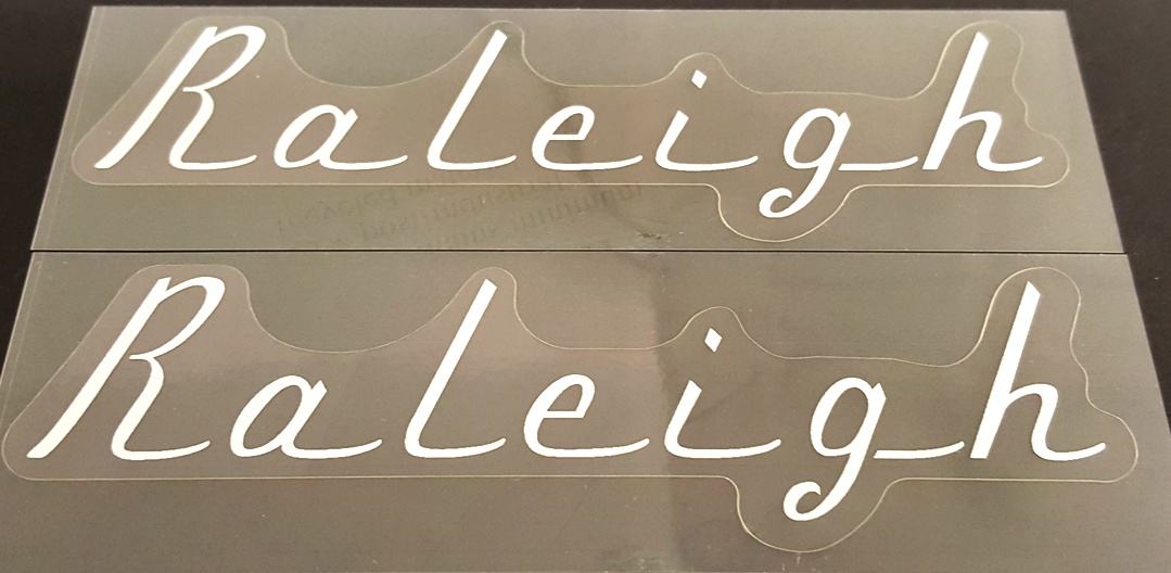 Raleigh Classic Down Tube Decals - 1 Pair