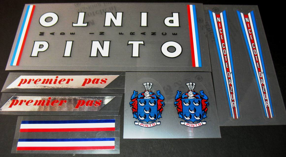Pinto Bicycle Decal Set with True Chrome