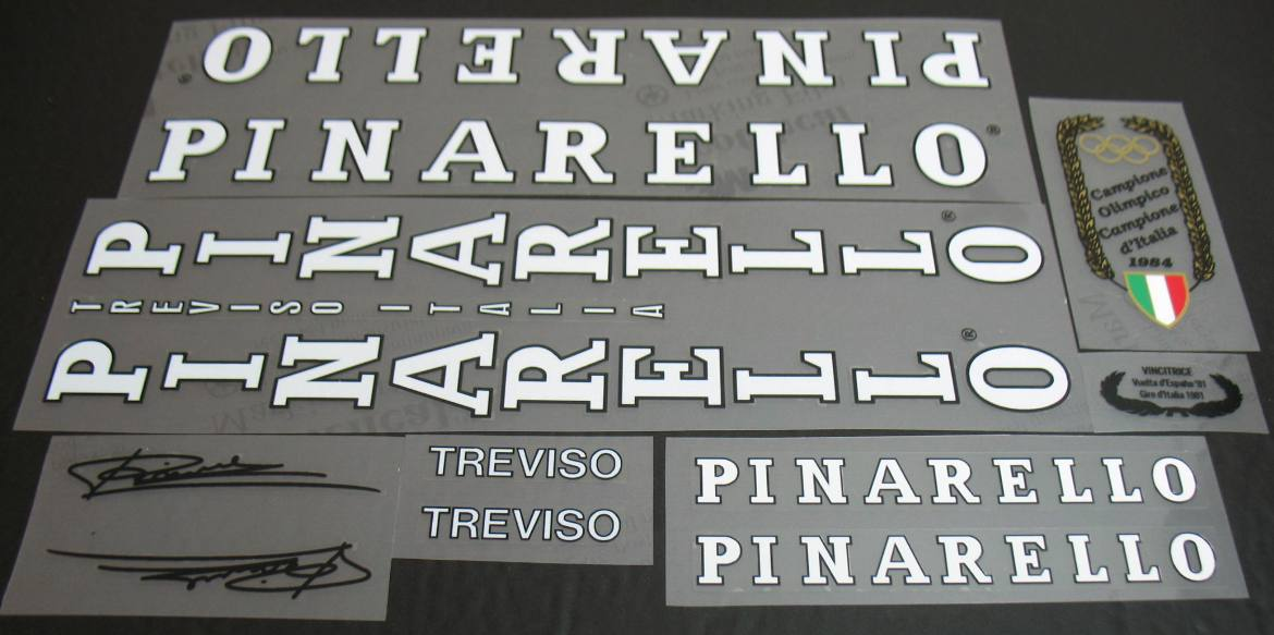 Pinarello Treviso Bicycle Decal Set