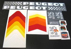 Peugeot PH10LE Bicycle Decal Set