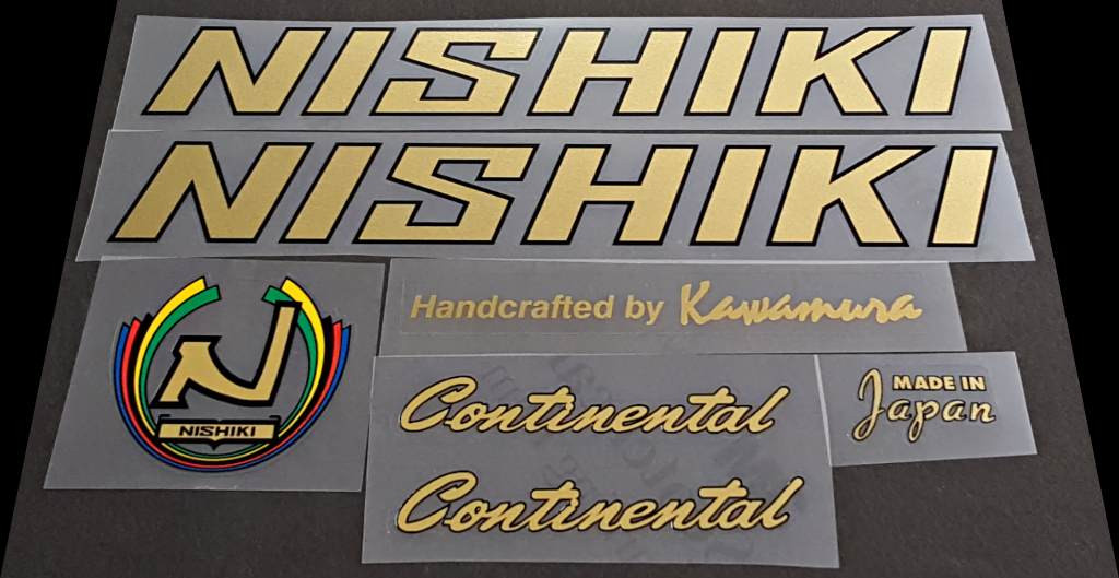 Nishiki Continental Bicycle Decal Set