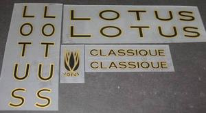 Lotus Classique Bicycle Decal Set