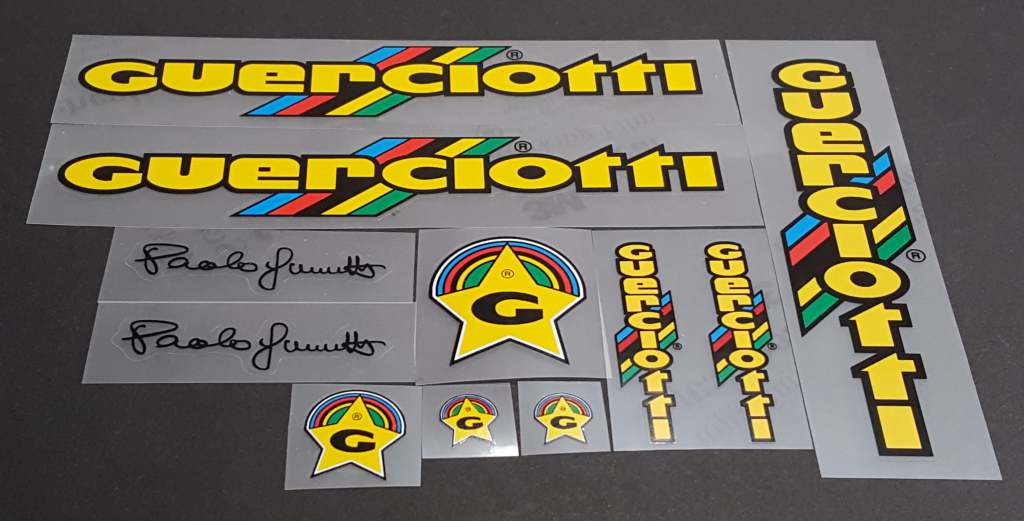 Guerciotti 1984 Bicycle Decal Set - Yellow/Black