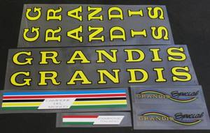 Grandis Bicycle Decal Set