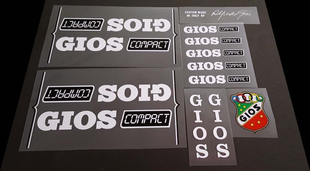 Gios 1990 Compact Bicycle Decal Set