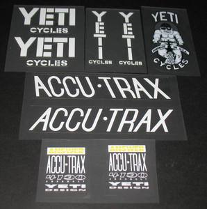 YETI FRO Decal Set (sku 351)