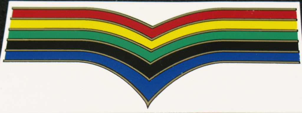 Holdsworth Chevron Olympic Stripes Waterslide Decal