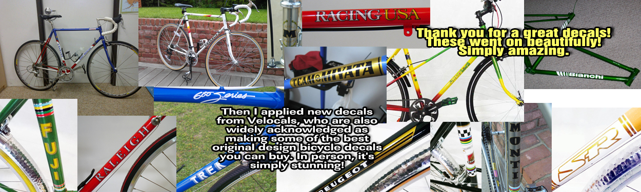 VeloCals bicycle decals - Quality, Durable, Ultra-thin