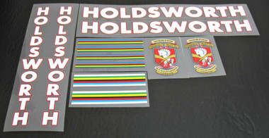 Bicycle Decals Transfers Stickers Silver Fill /& Black Key Set 22 Holdsworth