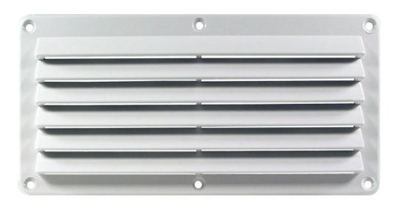 Cool Components Grill for Rect 4x10 Openings - White