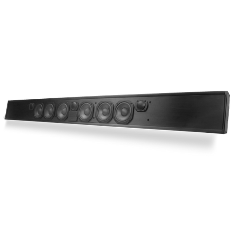 "TruAudio Custom Length Passive LCR Soundbar 4.5"" Poly Woofers - Fits 42-62"" TV"