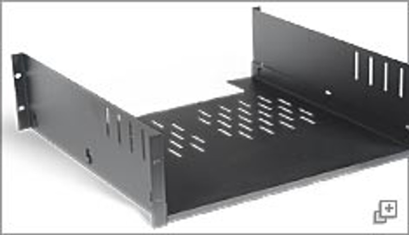 Stealth Series 4-point Mounted Full-Length Shelf - 3U, 610mm deep.
