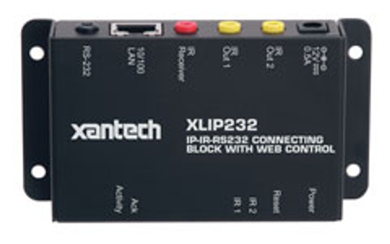 Xantech IR-IP-RS232 Connecting Block with Web Control