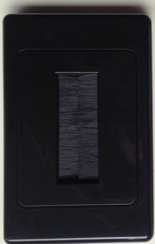 Techmount Single Gang Brush Plate - Black