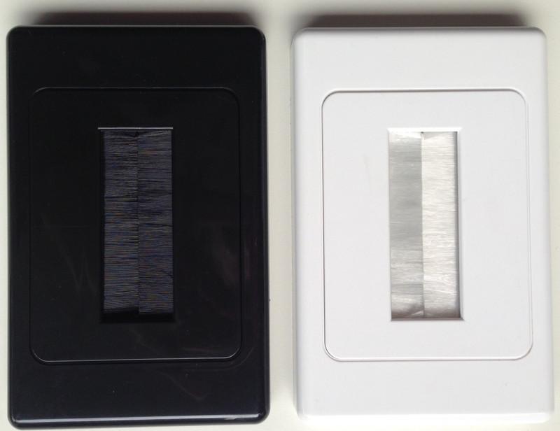 Techmount Single Gang Brush Plates