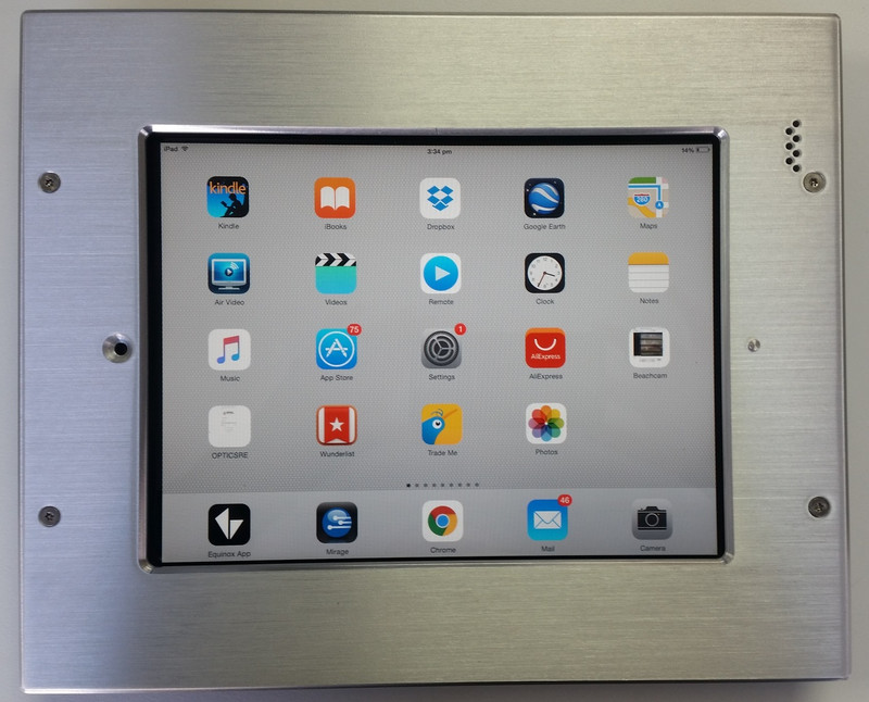 "iDocx iPad 9.7"" Tamper Resistant Inwall Mount - Brushed Aluminium was $1,057.52 now..."