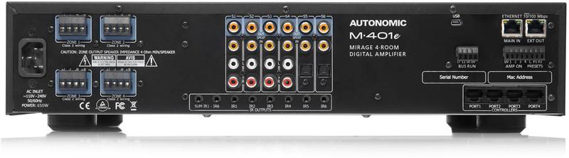 Autonomic Mirage M-401e 6 Source, 4 Zone Multiroom Digital Amplifier