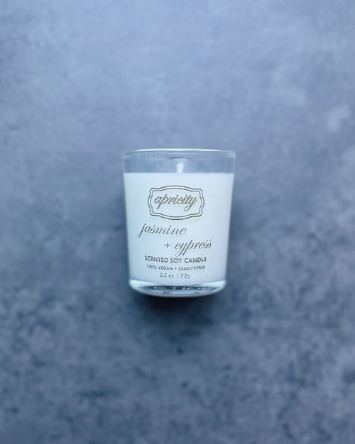 JASMINE + CYPRESS  (mini) | luxe scented soy candle